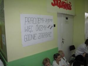 Protest pielęgniarek w szpitalu SZCPIG w Bystrej